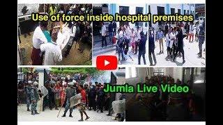 Dr.KC News | जुम्लामा अस्पतालभित्र लाठीचार्ज | Use of force inside hospital premises Live Video