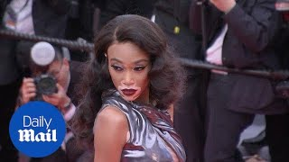 Winnie Harlow blows Cannes crowd away in stunning futuristic gown - Daily Mail