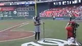 Sheena Alexis- Washington Nationals- National Anthem Performance