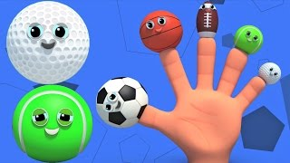 palla sport | famiglia dito | filastrocca | Sports Ball | Finger Family Song | Rhyme For Kids