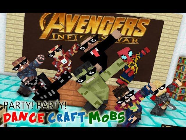 Monster School : Avengers Crafting CHALLENGE - Minecraft Animation