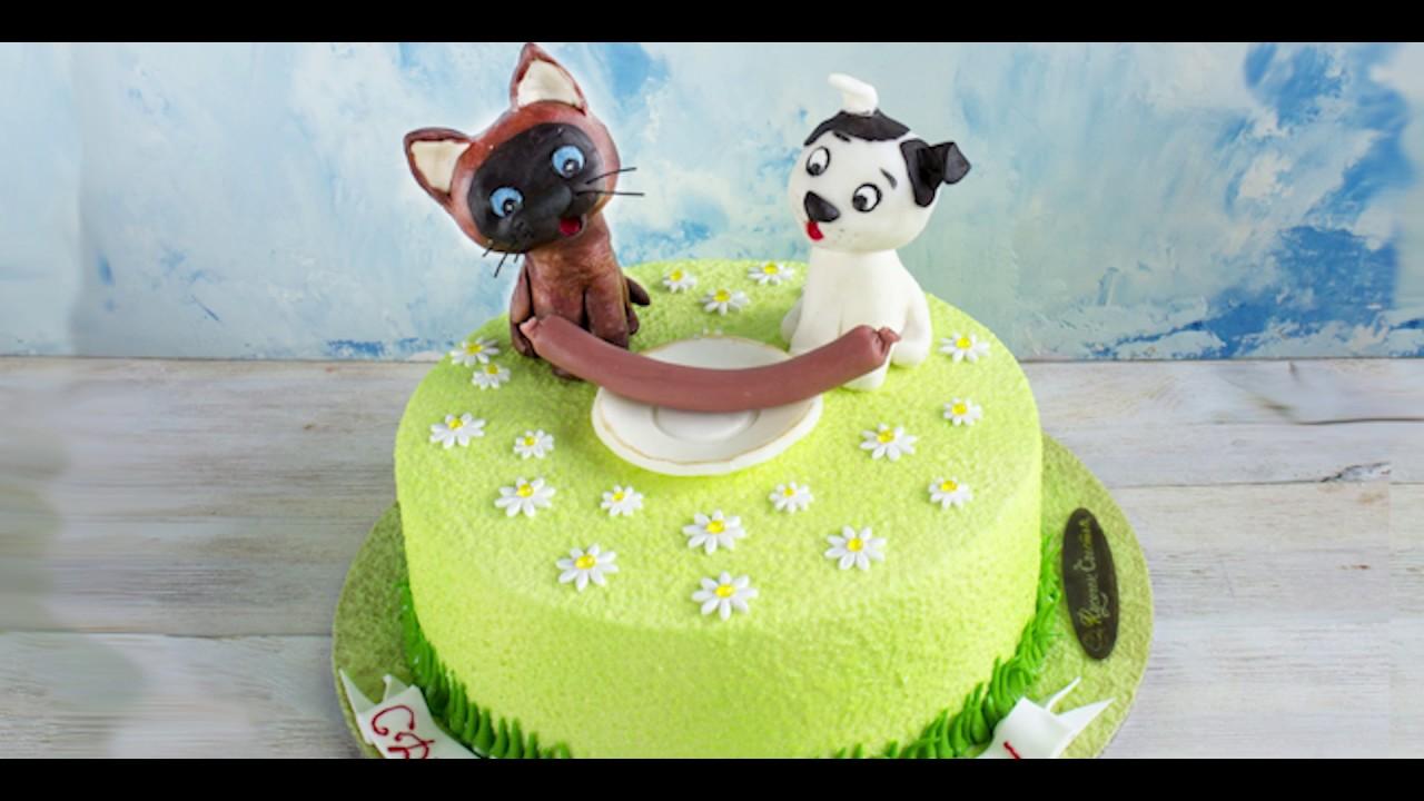 Картинки кошка и собака вместе на торт
