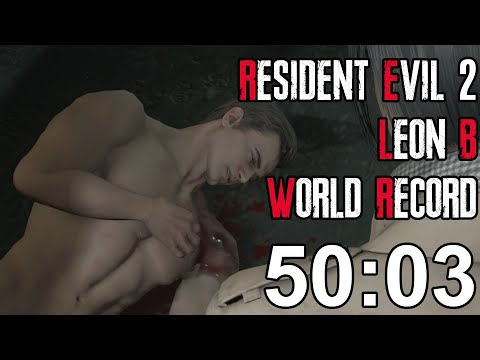 Resident Evil 2 Remake - Leon B Speedrun World Record - 50:0