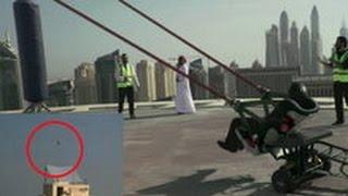 Dubai Human Slingshot Stunt Goes Viral