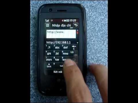 DIEN THOAI LG GT505 XEM YOUTUBE BANG WIFI
