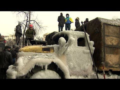 UKRAINE CLASHES: AFTERMATH FROM KIEV - BBC NEWS