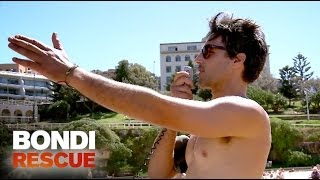 Handsome Lifeguard Protects his Hair | Bondi Rescue S9