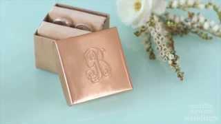 DIY Embossed Copper Ring Box