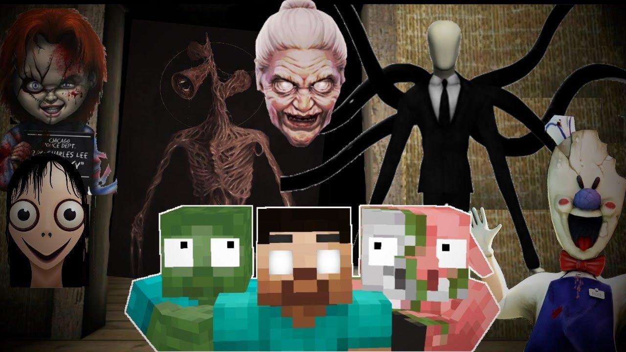 Monster School : Granny, Siren, Ice Scream and Friends - Minecraft Animation