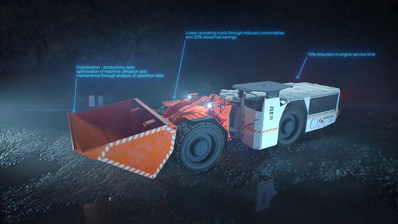 Sandvik LS312 Flameproof underground utility vehicle