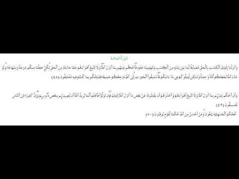 SURAH AL-MAEDA #AYAT 48-50: 28th April 2021