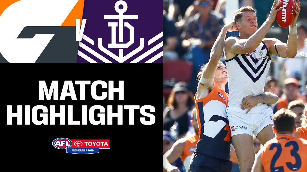 Battle of the key forwards | GWS v Fremantle Highlights | Round 5, 2019 |  AFL