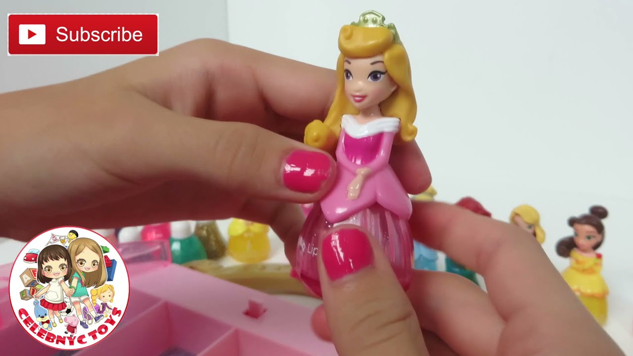 Disney princess makeup set little kingdom collection sparkle nail polish hair mascara lip gloss youtube