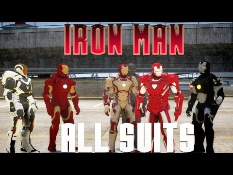 ALL IRON MAN SUITS (31 ARMORS) IN GTA IV - Full download