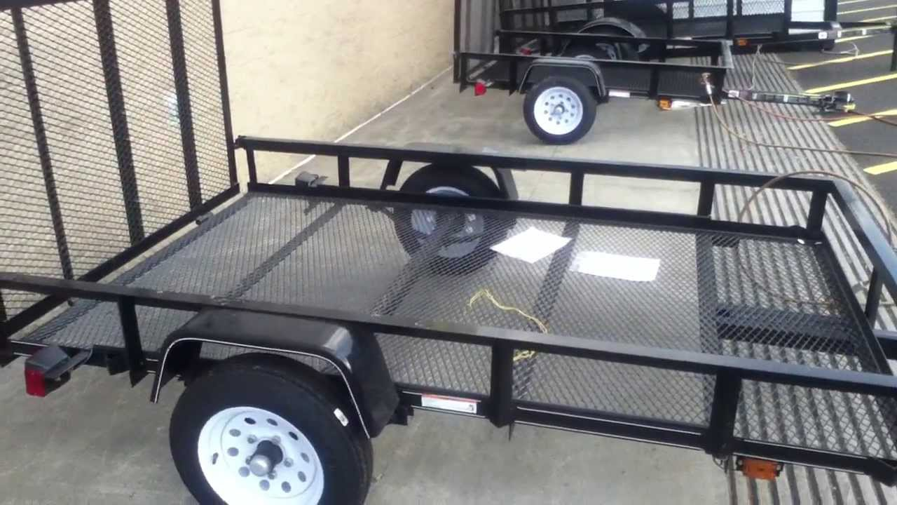 Readymade trailers from Lowes as a basis for project trailers  YouTube