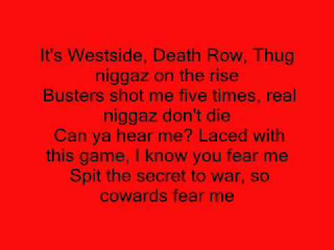 2pac-No More Pain Lyrics