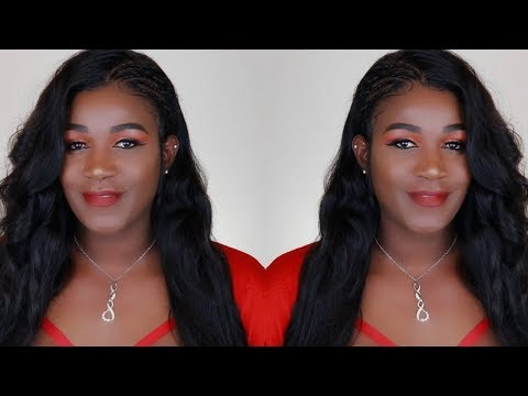 HOW TO NATURAL LOOKING CORNROW AND STYLE A 360 FRONTAL WIG | WEST KISS HAIR