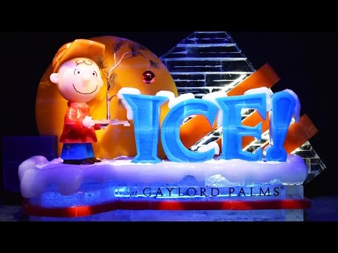 ICE! Featuring A Charlie Brown Christmas FULL Walk Through at Gaylord Palms Resort Orlando 2016