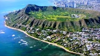 ハワイ空撮!空から見るダイヤモンドヘッド!2015