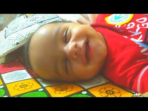Cute Baby Smiling While Sleeping, Cutest Laugh Of A 3 Month Baby