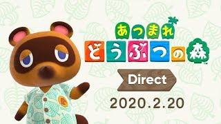 あつまれ どうぶつの森 Direct 2020.2.20 無人島生活をくわしく…