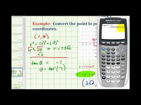 Example:  Convert a Point in Rectangular Coordinates to Polar Coordinates Using Radians