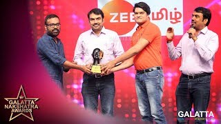 Rangaraj Pandey winning MOST TALKED ABOUT HOST | Galatta Nakshatra Awards