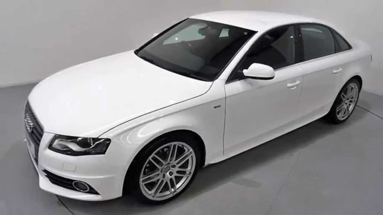 Audi A4 2.0 TDi S Line Finished in Ibis White - YouTube