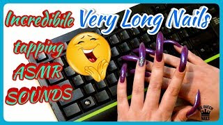NEW EXCLUSIVE ASMR VIDEO! SENSATIONAL LONG SHARP NAILS Play with KEYBOARD! (second part)