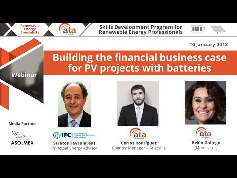 Webinar: Building the financial business case for PV projects with batteries
