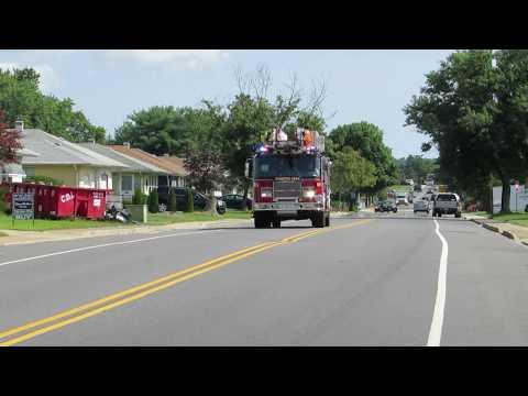 Manitou Park Fire company NEW ladder 1835 responding 8/25/18 #quint #firetruck #ladder