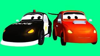 Авто Патруль: пожарная машина и полицейская машина, и Гонщик-нарушитель, Трактор | Мультфильм