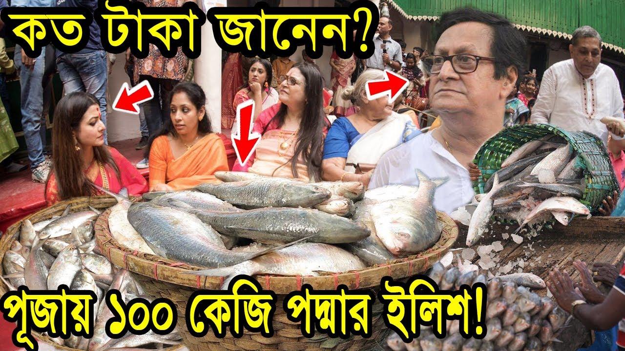 পূজা উপলক্ষে ১০০ কেজি পদ্মার ইলিশ কিনলেন কোয়েল মল্লিক    কত টাকা    মল্লিক বাড়ি    দূর্গা পূজা 2020