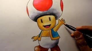 Wie zeichnet man Toad [Super Mario Tutorial]