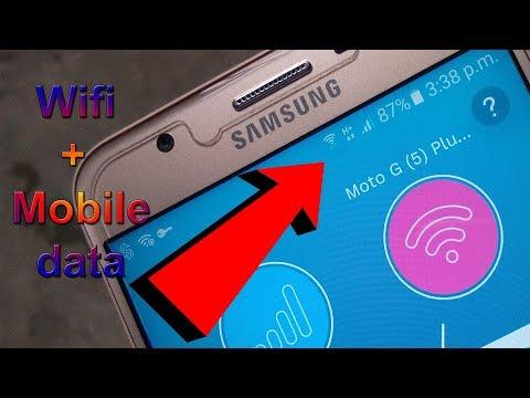 Wifi और Mobile Data एक साथ कैसे उपयोग करें।