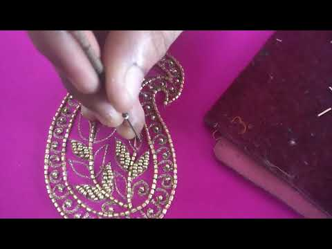 How to Make Paisley Pattern - Hand Embroidery