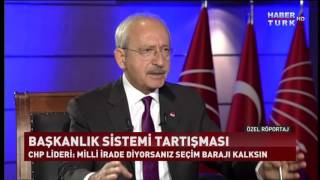 Özel Röportaj - 28 Ekim 2016 (Kemal Kılıçdaroğlu)