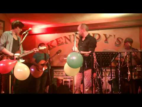 Kennedy's Munich 1 year birthday, staff on stage