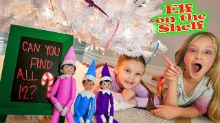Candy Cane Scavenger Hunt! Christmas Elf On The Shelf Day 7!!