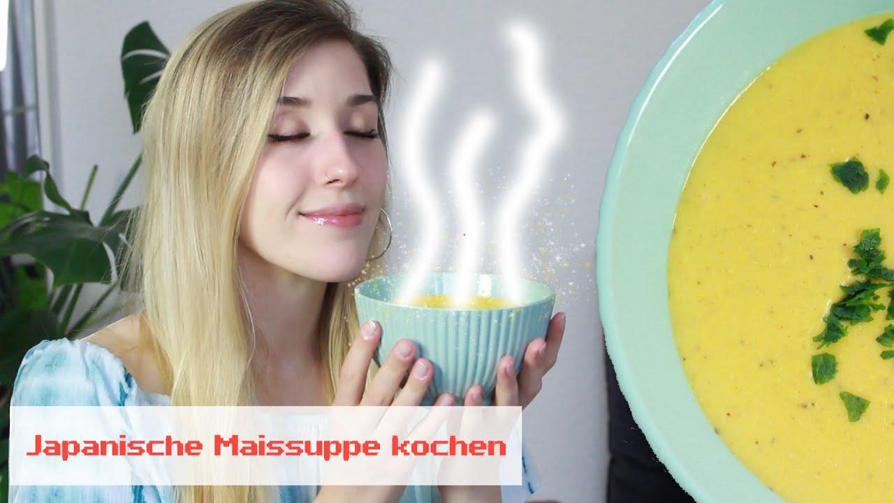 🌽 Corn Potage: Wir kochen eine japanische Maissuppe! | Japanisches Rezept 🥣