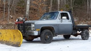 Chevy K20 Flatbed Plow Truck