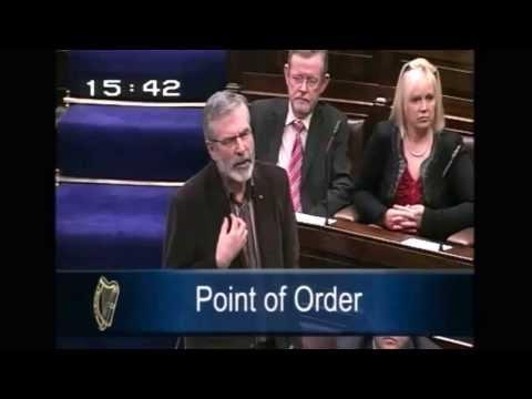 Enda Kenny upsets OC Gerry Adams December 2012