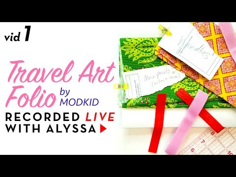 Travel Art Folio by Modkid. Cut fabric pieces - Video 1 - Designer Series #RelaxAndCraft