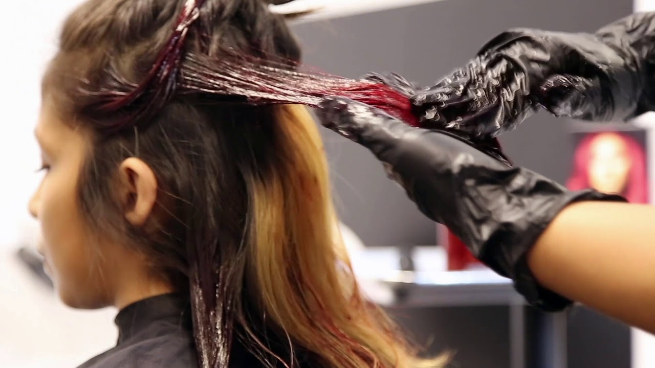 How To Color Your Hair With Splat Midnight Scarlet Youtube