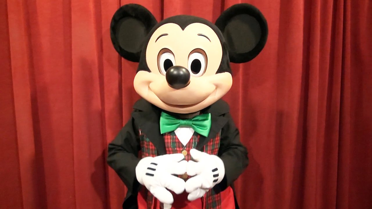 talking mickey mouse at mickeys very merry christmas party 2016 in holiday outfit magic trick youtube - Merry Christmas Mickey Mouse