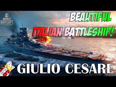 World of Warships - Giulio Cesare - Beautiful Italian Battleship [DATAMINE]