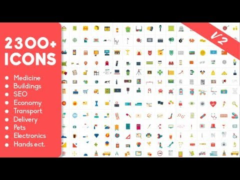 After Effects Templates – 2300 Animated Icons Pack- Free