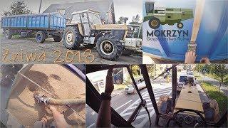 Żniwa 2018 w Mokrzynie [ VLOG #6 ] - Podczepianie, plandekowanie, transport i rozładunek zboża 👍