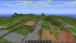 --MINECRAFT 1.6.2-- Muy buena semilla, pueblo, caballos, mina, fortaleza del nether y mas.