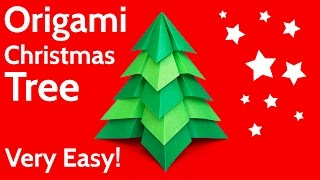 Make a Very Easy Origami Christmas Tree